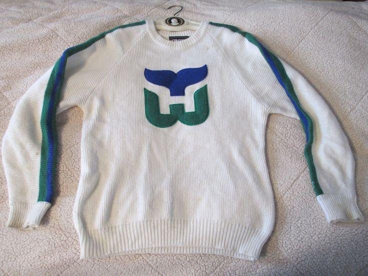 VTG 80s 90s Hartford Whalers NHL Jersey Sweater STARTER ugly cosby indie hipster #Starter #Crewneck