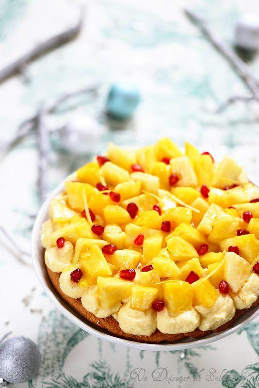 Entremets coco ananas inspiré de Pierre Hermé