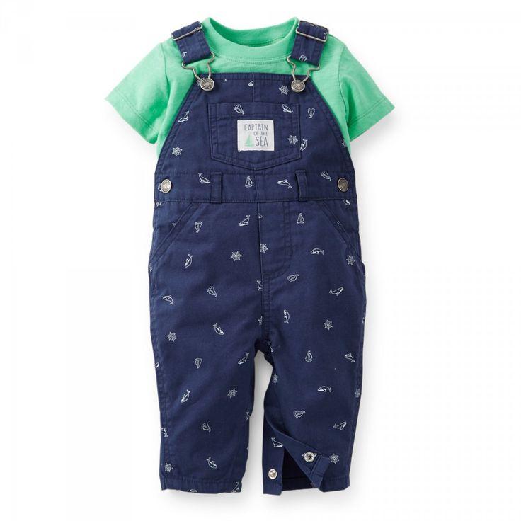 Комбинезон и футболка для маленького мальчика, детский набор, бренд Carters