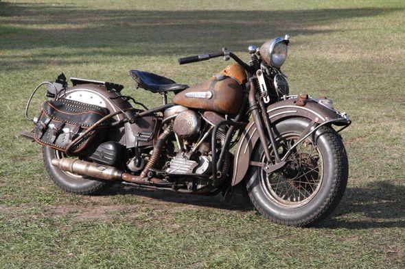 Vintage 1948 Harley-Davidson Panhead   Totally Rad Choppers