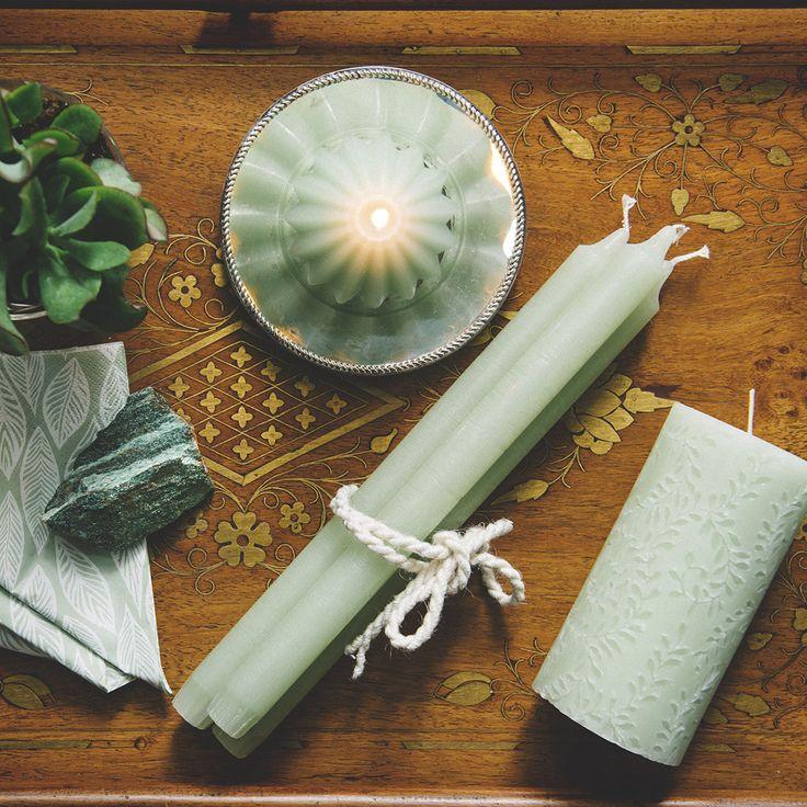Frost Green HAVI'S mood. Pastel green candles. Summer vibes.  #green #pastels #havis1829