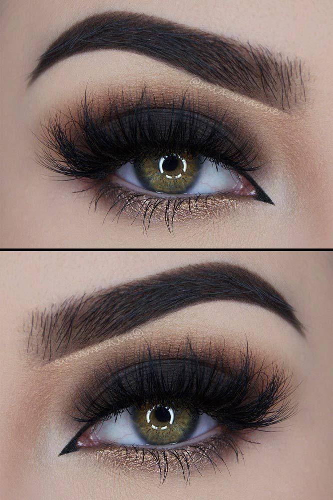 21 Sexy Smokey Eye Makeup Ideas to Help You Catch His Attention ★ See more: http://glaminati.com/sexy-smokey-eye-makeup/