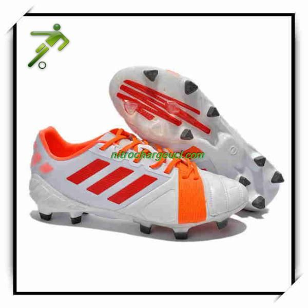Customize My Soccer Shoes Adidas Nitrocharge UCL TRX FG Leather White Pink
