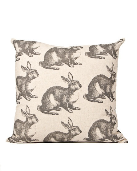 'Rabbit' scatter cushion (60 x 60cm) using 100% cotton Design Team fabric. Duck down inner included (R480).