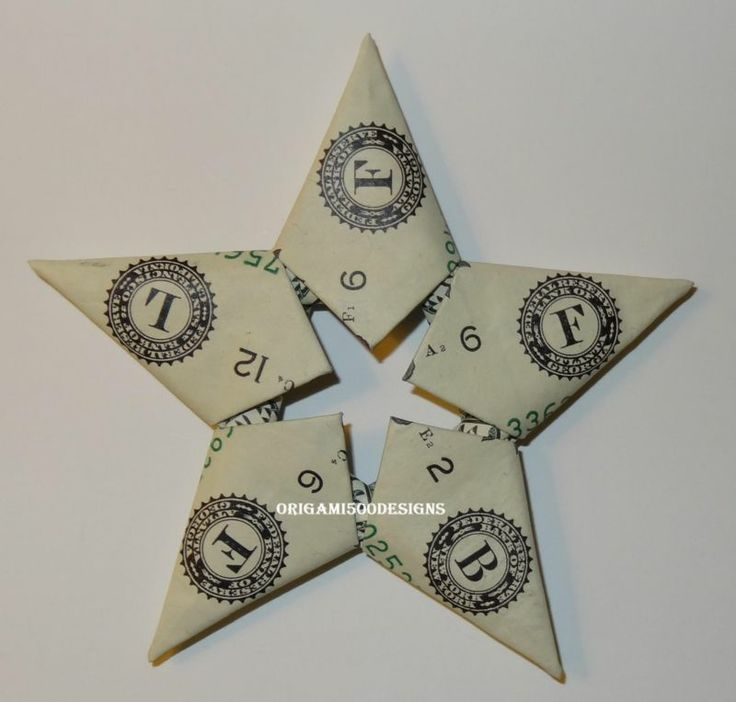 Money Origami STARS -Many Designs To Choose From Great Gift Idea