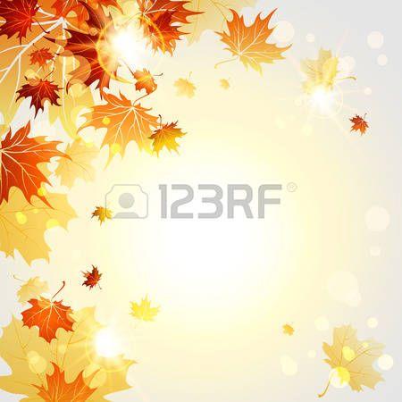 disegni astratti: Autunno foglie d'acero sulla luce di sole backgrund. Illustrazione vettoriale Vettoriali