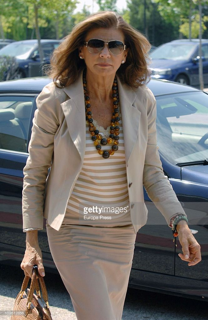 Marisa de Borbon attends the funeral chapel for Isabel Garcia-Yebenes at La Paz morgue on June 28, 2010 in Madrid, Spain.