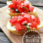 Copycat Olive Garden Bruschetta al Pomodoro is a fantastic starter to any meal, and is perfect for a summer meal, with a few deli meats and a salad.
