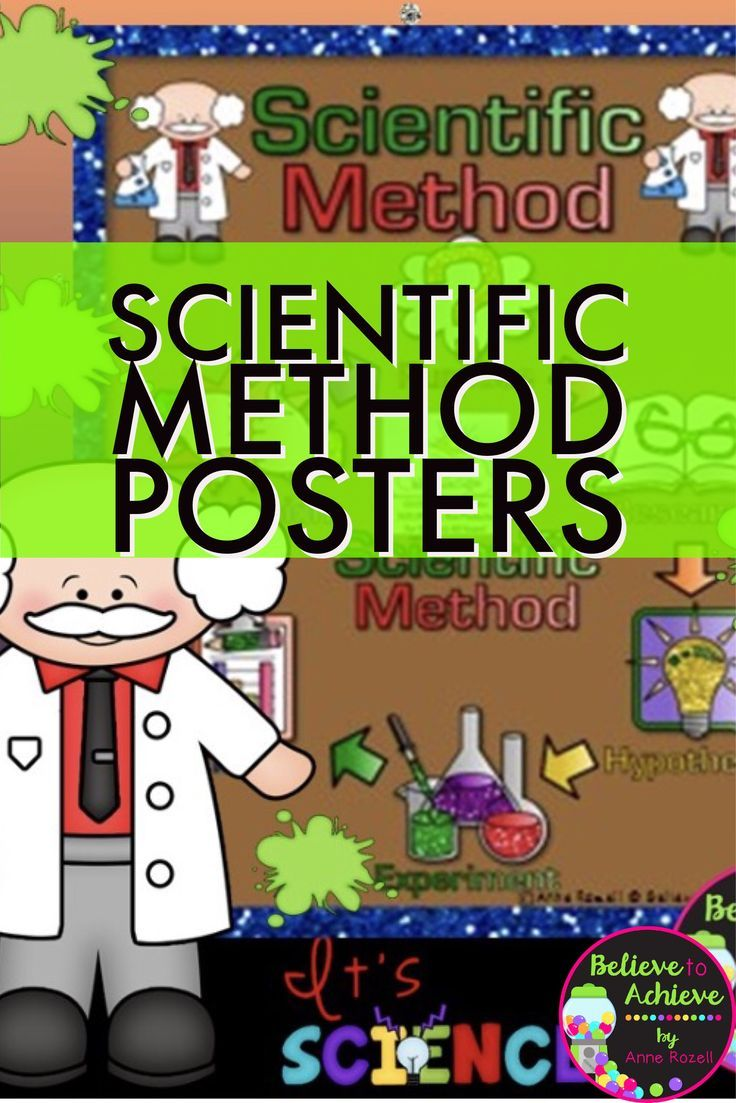 Scientific Method PostersThis is a beautifulset of 7 color posters and 7 black and white posters about the Scientific Method.You may want to copy the color ones on card stock and laminate to display in the classroom. The black and white ones you may want to copy and use in student journals. This set is a wonderful addition to your lessons!