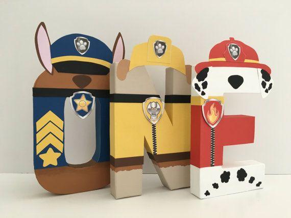 Paw Patrol - Paper Mache Letters