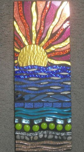 Image detail for -Sunset Beach Stained Glass Mosaic Wall Hanging by spoiledrockin