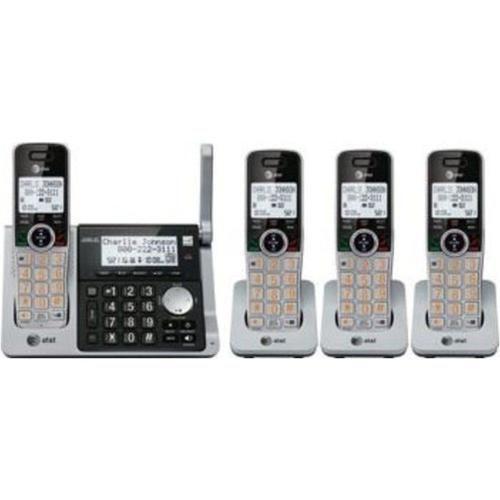NOB AT and T CL83464 DECT 6.0 Cordless Handset - 4 handset - Caller ID - Metallic Grey