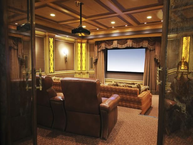 Family Friendly Home Theaters From DIYNetwork.com