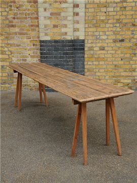 Antique trestle table.