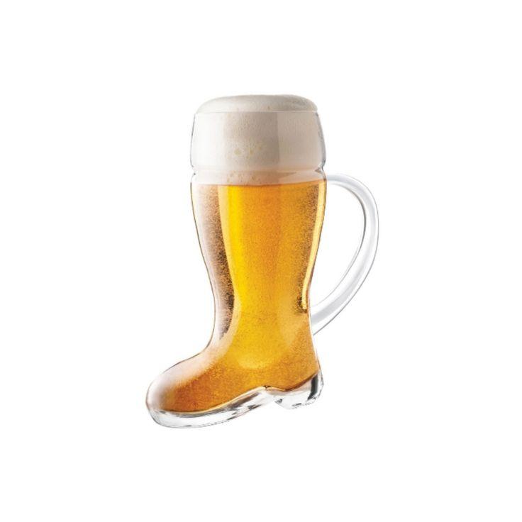 """La fameuse """"Botte à bière"""" célèbre en Allemagne! Et oui! Vous devrez tourner la pointe lorsque la botte est presque vite... """"Bierstiefeln""""!"""