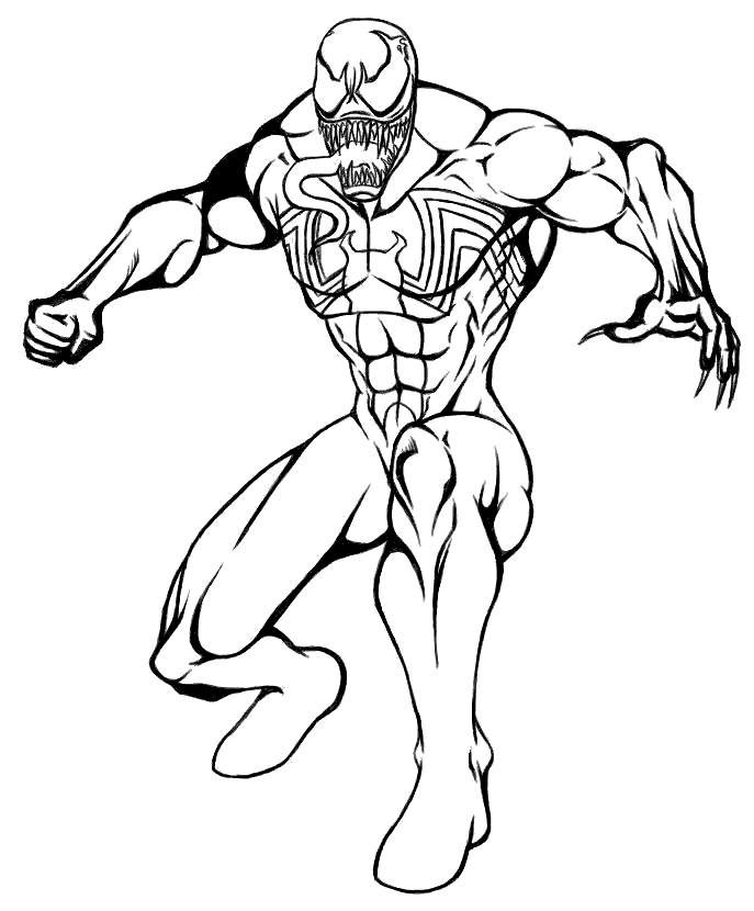 Printable Venom 2018 Venom Coloring Pages
