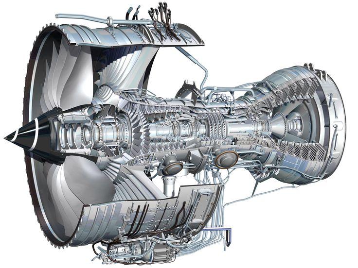 Rolls-Royce Trent 1000 - cutaway                                                                                                                                                                                 Más
