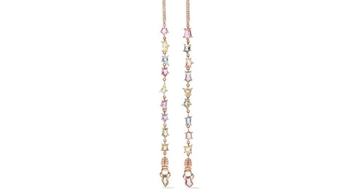 Buy Daniela Villegas Women's Metallic Confetti 18-karat Rose Gold, Sapphire And Diamond Earrings, starting at $11600. Similar products also available. SALE now on!