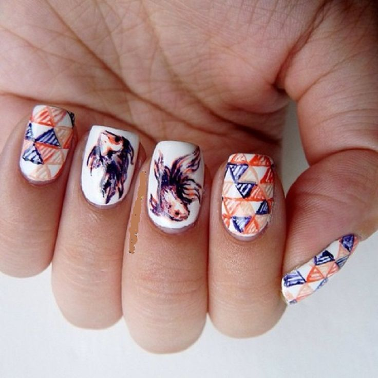 Nail Polish Games For Girls Do Your Own Nail Art Designs: Best 25+ Round Nail Designs Ideas On Pinterest