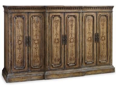 Shop For Hooker Furniture Handpainted Tall Credenza, 5161 85001, And Other  Living Room