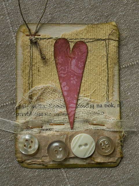 ATC_red heart | Flickr - Photo Sharing!