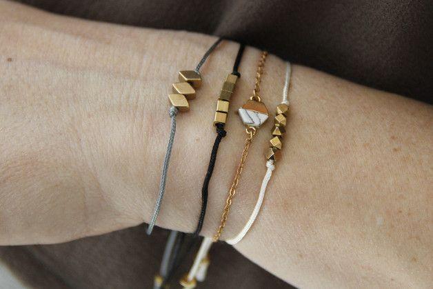 Armbänder - Messing Armband Friendship Raute Diamant - ein Designerstück von State-of-A bei DaWanda