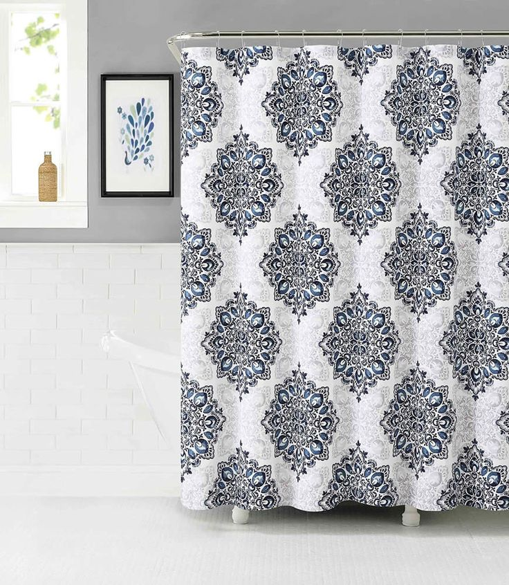 grey and navy shower curtain. Tranquility Cotton Rich Fabric Shower Curtain with Medallion Design  Navy White Mauve Gray Best 25 shower curtains ideas on Pinterest Boys