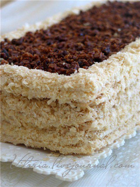 Вафельный торт с безе   - Wafer cake with meringue