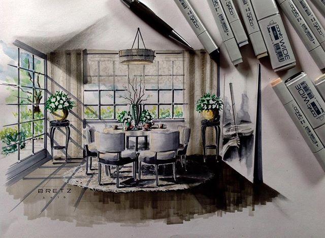 Die besten 25 interior design skizzen ideen auf pinterest for Wandfarben simulator