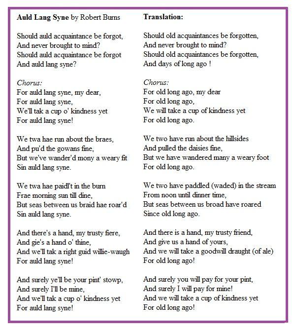Auld Lang Syne Translation | Auld Lang Syne Lyrics and Translation | Jingle all the way