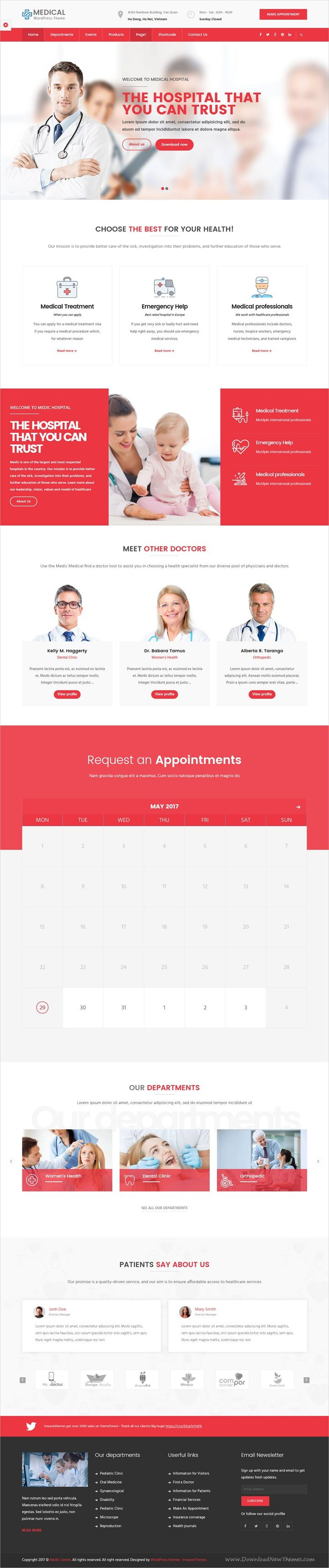 inMedical is powerful and eye-catching responsive #WordPress theme for #Medical, #Clinic and Hospitals website with 6 unique homepage layouts download now➩ https://themeforest.net/item/inmedical-medical-clinic-hospital-wordpress-theme/19551351?ref=Datasata