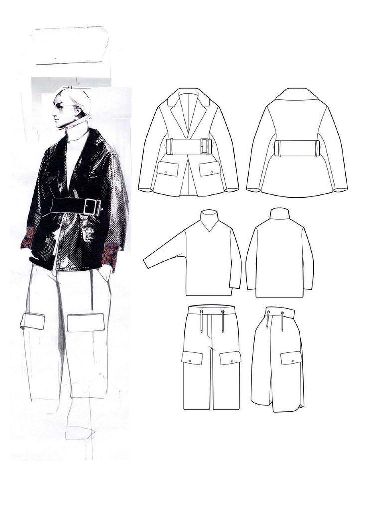 Fashion Sketchbook - fashion illustration & technical fashion drawings; fashion portfolio layout // Andrew Voss