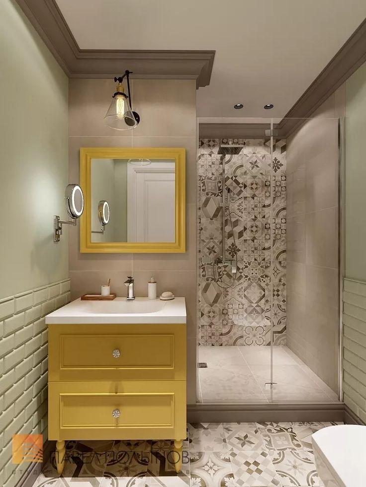 Фото ванная комната из проекта «Дизайн проект трехкомнатной квартиры 88 кв.м., ЖК «Северная Долина», американская классика с элементами LOFT»