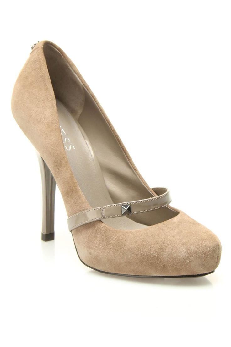 Guess Giselle Pumps In Mushroom - that one little stud makes these just adorable!!