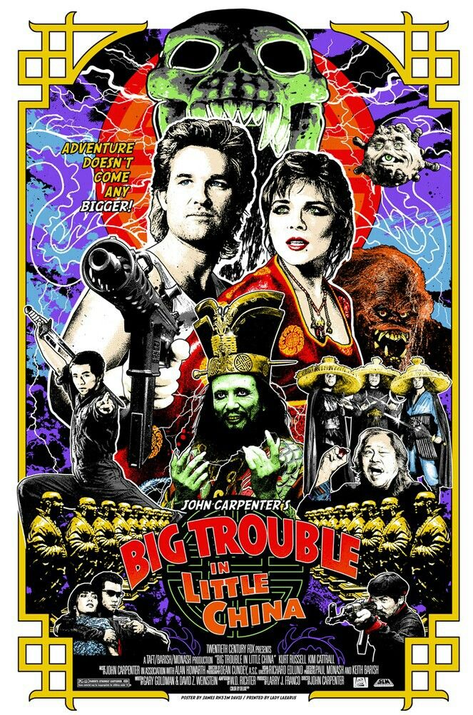 Big Trouble In Little China Best Movie Posters Alternative Movie Posters Movie Art