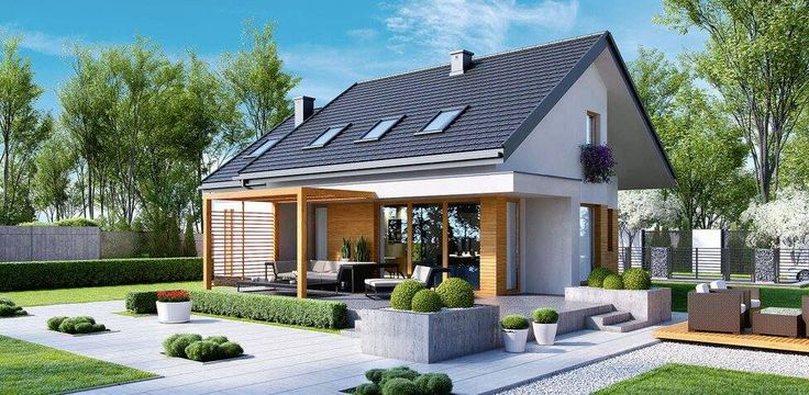Casă de vis mică si modernă in suprafată de 119 m². Ideală unei familii cu 3-4 membri.