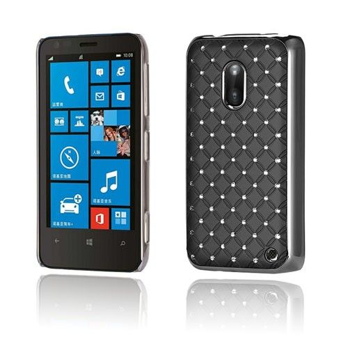Stars (Musta) Nokia Lumia 620 Suojakuori - http://lux-case.fi/stars-musta-nokia-lumia-620-suojakuori.html