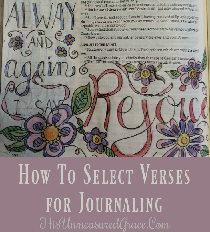 Selecting verses for journaling can be the hardest part about getting started with your artistic endeavor, if you are anything like me!I am not really an artist.I am assuming you aren't either!If you want to know the truth about me, I'll ...