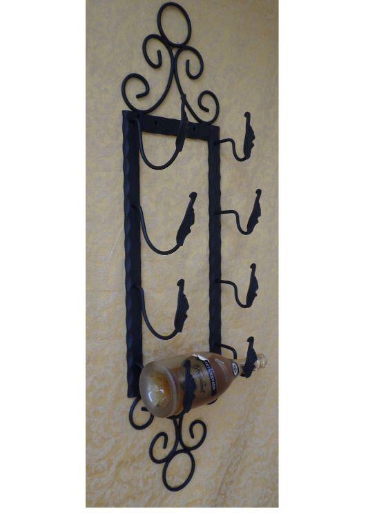 Porta bottiglie in ferro battuto 4 posti : Accessori casa di artigianfer