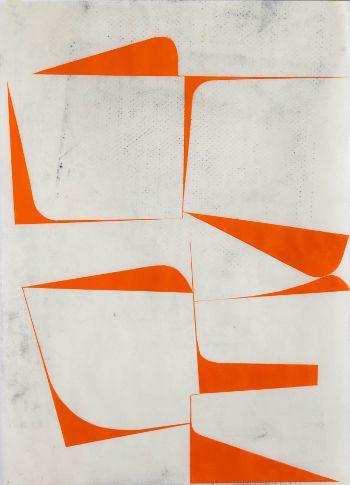 Fascinating white and orange graphics.