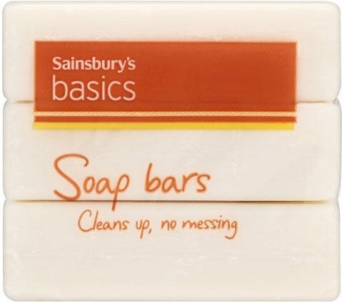 Sainsbury's Basics Soap Bars (3x125g)
