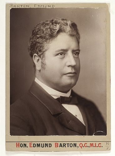 Edmund Barton, Q.C., M.L.C., ca. 1889 / unknown photographer. 1st PM of Australia. State Lib of NSW