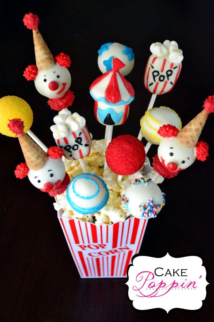 Circus cake pops  www.facebook.com/cakepoppin