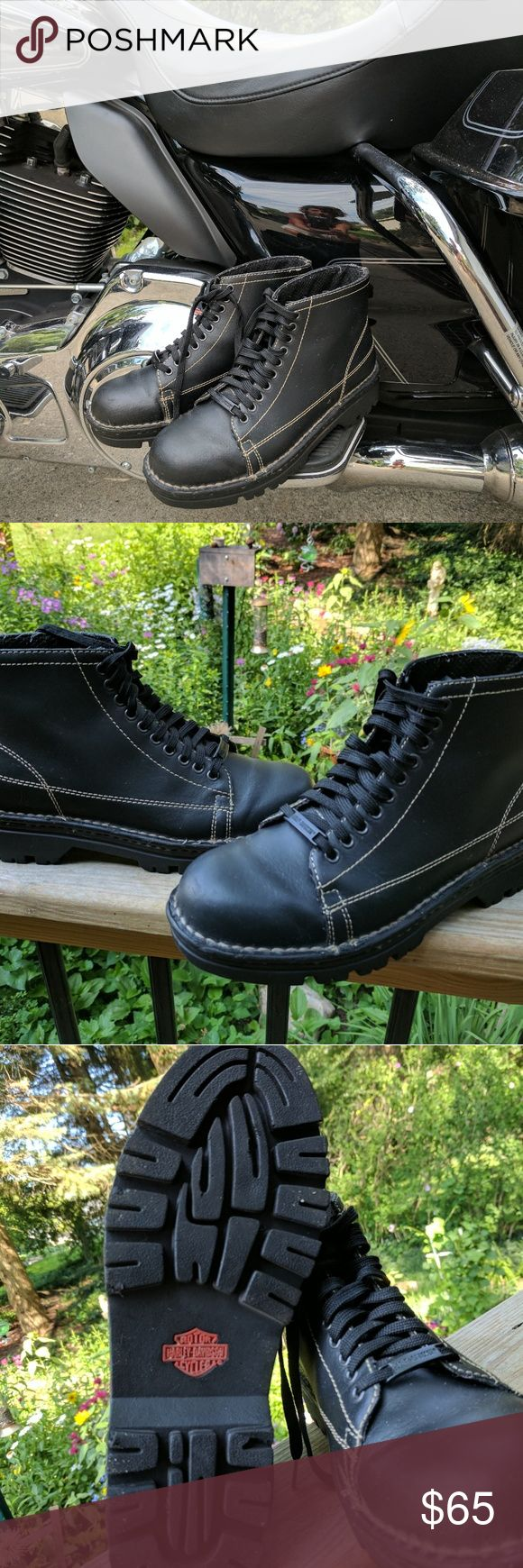 Harley Davidson motorcycle boots Comfortable hiking boots style. Very gently warn. Excellent condition. Harley-Davidson Shoes Combat & Moto Boots