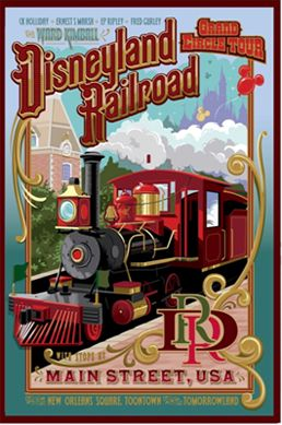 Disneyland Railroad..great way to rest while checking out the park!  I know Jacob will go gaga for this!