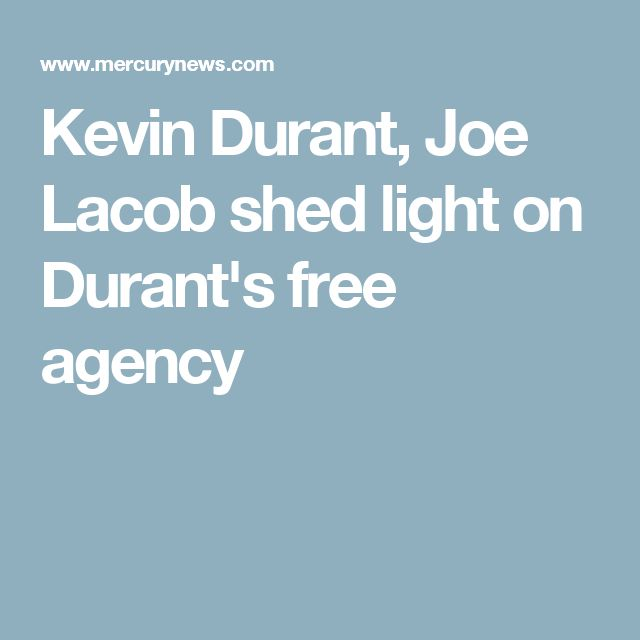 Kevin Durant, Joe Lacob shed light on Durant's free agency decision