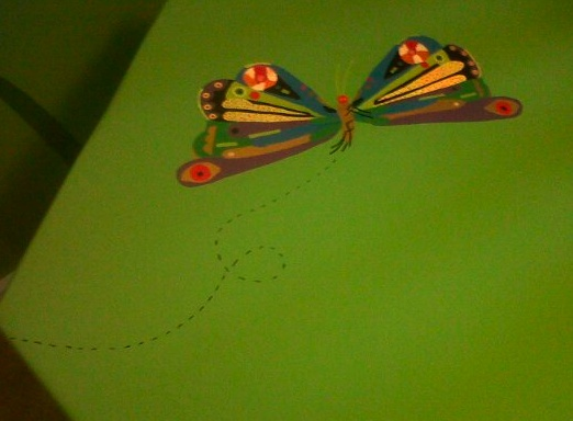 Table I painted in L's Eric Carle room