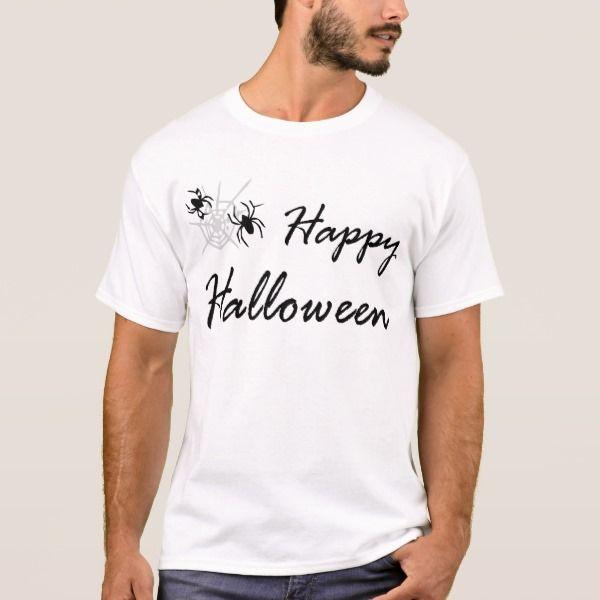 spider and web T-Shirt #halloween #holiday #creepyclothing #fashion #mensclothing