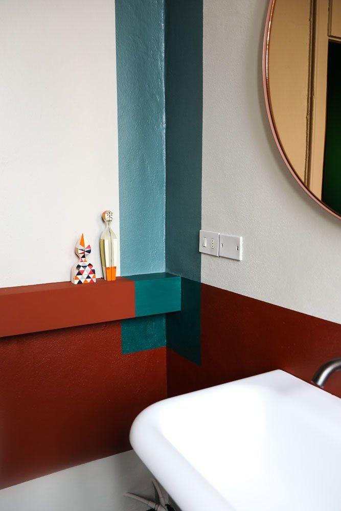 Les 25 meilleures id es de la cat gorie papier peint de for Carreau bleu mur salle de bain marseille