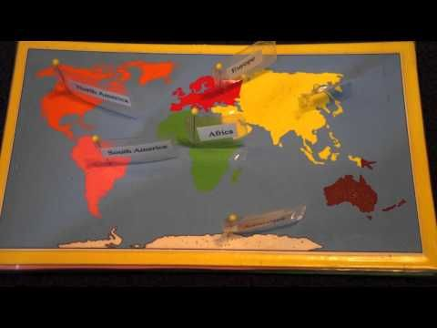 7 Continents Song and Montessori Map Work - YouTube